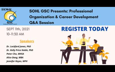 GSC: Professional Organization & Career Development